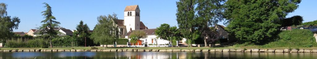 bandeau vue sur église de Monéteau